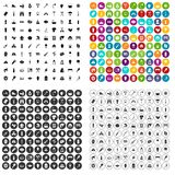 100 fire icons set vector variant. 100 fire icons set vector in 4 variant for any web design isolated on white Stock Photography
