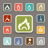 Fire icons vector Royalty Free Stock Image