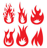 Fire  icons. Vector illustrations of the Fire  icons Royalty Free Stock Image