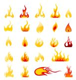 Fire Icons Vector Set Stock Photo