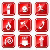 Fire Icons Stock Image