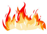 Fire illustration Stock Photos