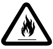 Fire. Illustration of fire in the triangular frame on a white background Stock Photo