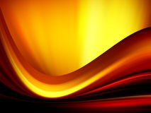 Fire illustration wave. Dynamic wave background, illustration of conceptual fire Stock Photos