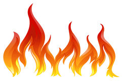 A fire. Illustration of a fire on a white background Royalty Free Stock Images