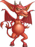 Fire Imp. Red fire imp with long tail Royalty Free Stock Image