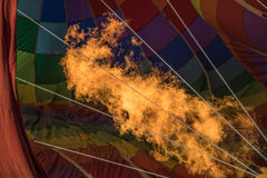 Fire inside balloon Stock Image