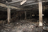 After the fire. Inside the mall Stock Photography