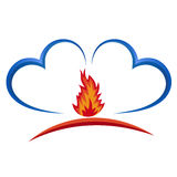 Fire insurance. Insurance. logo vector.  insurance insurance Stock Photography
