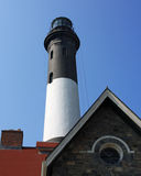 Fire Island Lighthouse (Front). Fire Island Lighthouse, Long Island, New York taken from the front stock photos