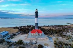 Fire Island Lighthouse - New York royalty free stock images