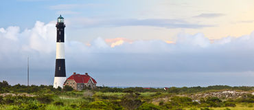 Fire Island Lighthouse at Sunset Stock Photo