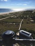 Fire Island lighthouse view. Looking west from Fire Island lighthouse royalty free stock photography