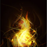 Fire isolate on the black background and space, Vector & illustration Royalty Free Stock Image