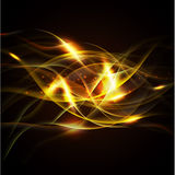 Fire isolate on the black background and space, Vector & illustration Stock Images