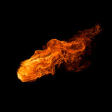 Fire. Isolated on black background royalty free stock images