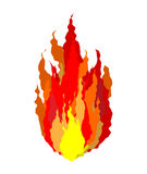 Fire isolated. Flames sign on white background.  Stock Photography