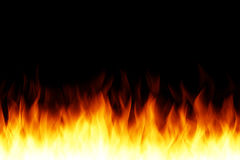 Fire isolated illustration. Royalty Free Stock Photo