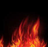 Fire isolated over a black Royalty Free Stock Photos