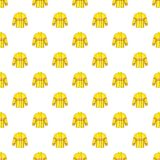 Fire jacket pattern, cartoon style Royalty Free Stock Images