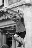 Fire Juggler, Bath, England Stock Photography