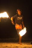 Fire juggler Stock Photography