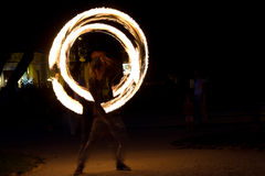 Fire jugglers Stock Images