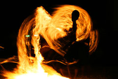 Fire jugglers, Koh Samet, Thailand. Royalty Free Stock Photo