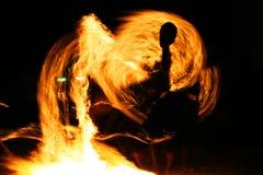 Fire jugglers, Koh Samet, Thailand. Fire jugglers on the beach at Koh Samet, Thailand Royalty Free Stock Photo