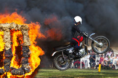 Fire jump Stock Image