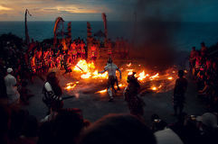 Fire Kecak Balinese Traditional Dance Royalty Free Stock Photo