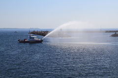 Fire Kingston Rescue Ship checking water guns Royalty Free Stock Image
