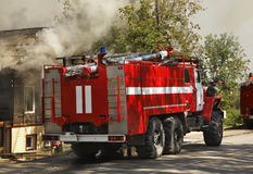 Fire in Kungur. Perm Krai. Russia Stock Photos