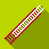 Fire ladder icon, flat style. Fire ladder icon. Flat illustration of fire ladder vector icon for web Stock Images