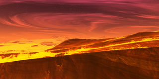 Fire landscape royalty free stock images
