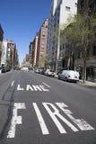 Fire lane at Madison Avenue in Manhattan Stock Photos