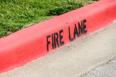 Fire Lane Stock Image