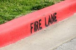 Fire Lane Stock Image