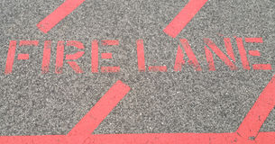 Fire Lane Stock Photography