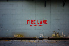 Fire Lane Wall Royalty Free Stock Photography