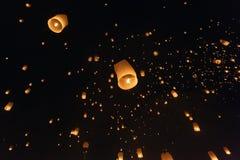Fire lantern festival Royalty Free Stock Photo