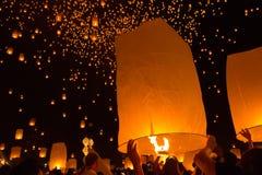 The sky lantern festival Stock Image