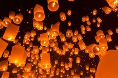 Floating lanterns Royalty Free Stock Photo