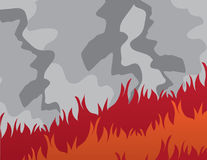 Fire Large Smoke Stock Photos