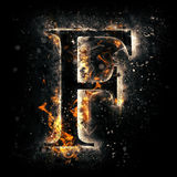Fire letter F Stock Images