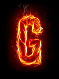 Fire letter G Stock Images