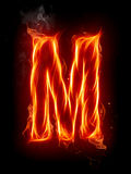 Fire letter M Royalty Free Stock Photos