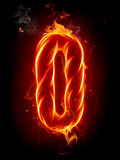 Fire letter O Royalty Free Stock Photo