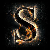 Fire letter S. For your design Stock Image