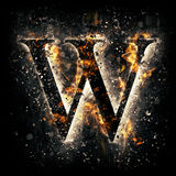 Fire letter W. For your design Royalty Free Stock Images